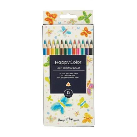 "Карандаши BrunoVisconti ""Happycolor"", 12шт, микс"